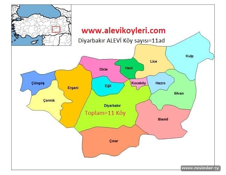 Alevi Köyleri Haritası (İllere göre) 10