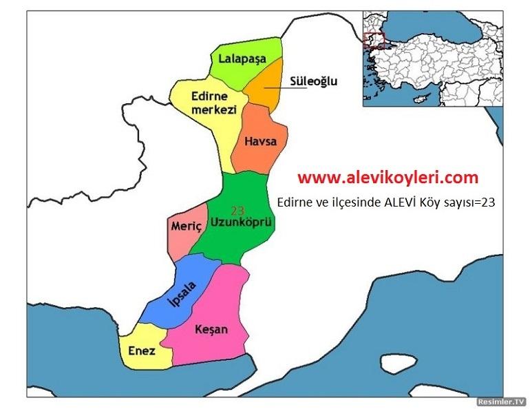 Alevi Köyleri Haritası (İllere göre) 11