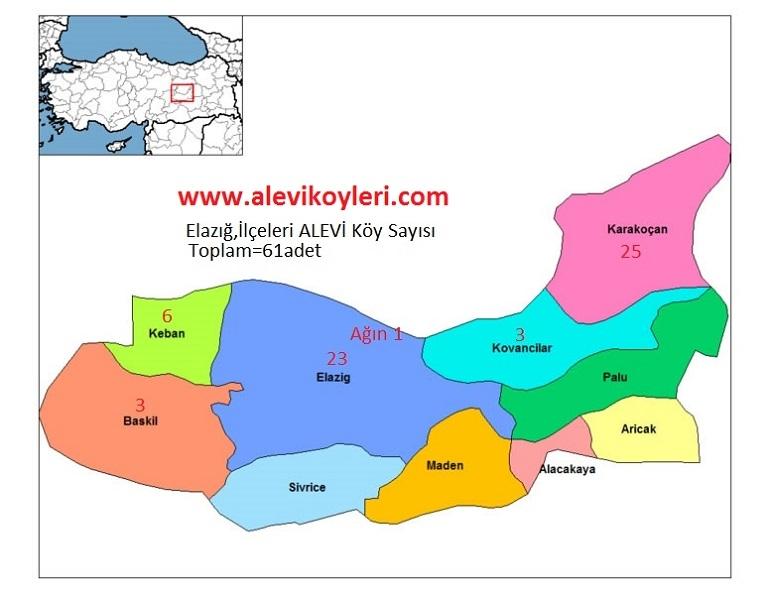 Alevi Köyleri Haritası (İllere göre) 12