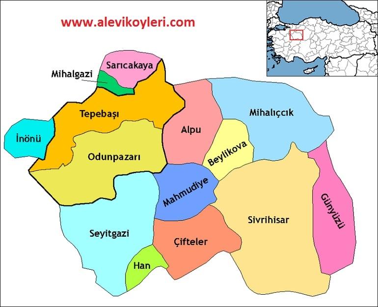 Alevi Köyleri Haritası (İllere göre) 16