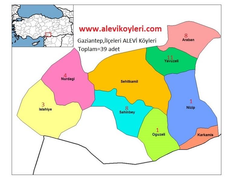 Alevi Köyleri Haritası (İllere göre) 17