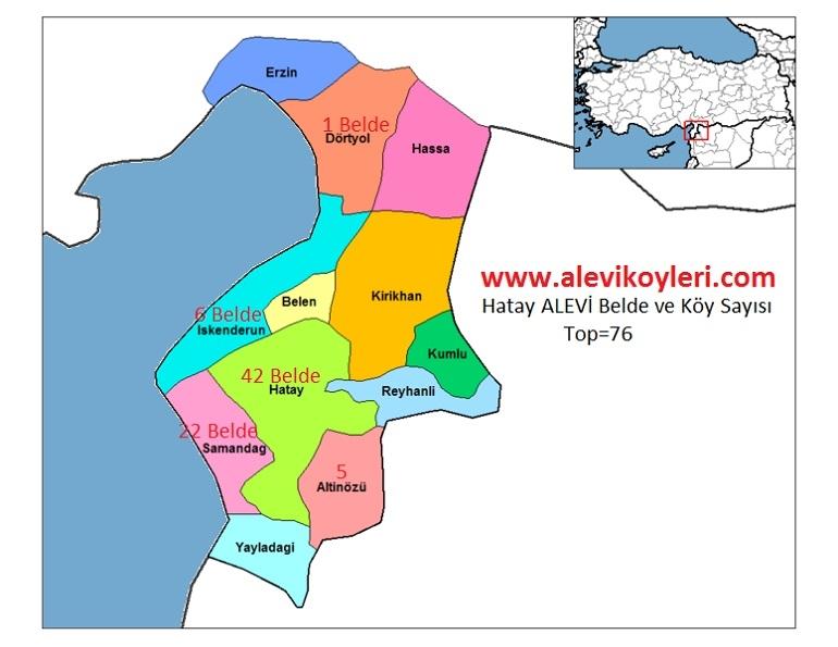 Alevi Köyleri Haritası (İllere göre) 20