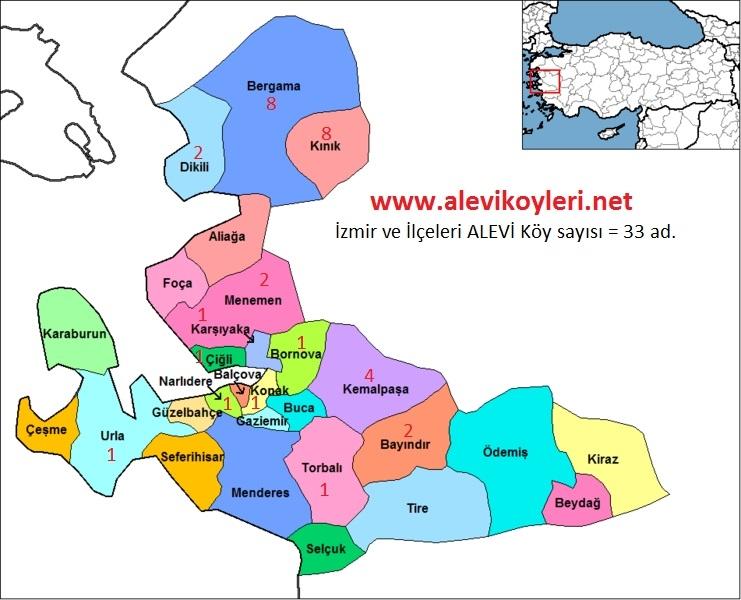 Alevi Köyleri Haritası (İllere göre) 21
