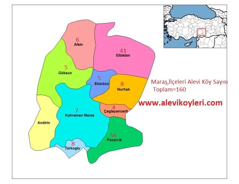 Alevi Köyleri Haritası (İllere göre) 22