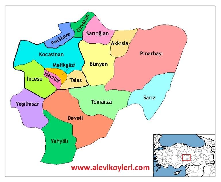 Alevi Köyleri Haritası (İllere göre) 24