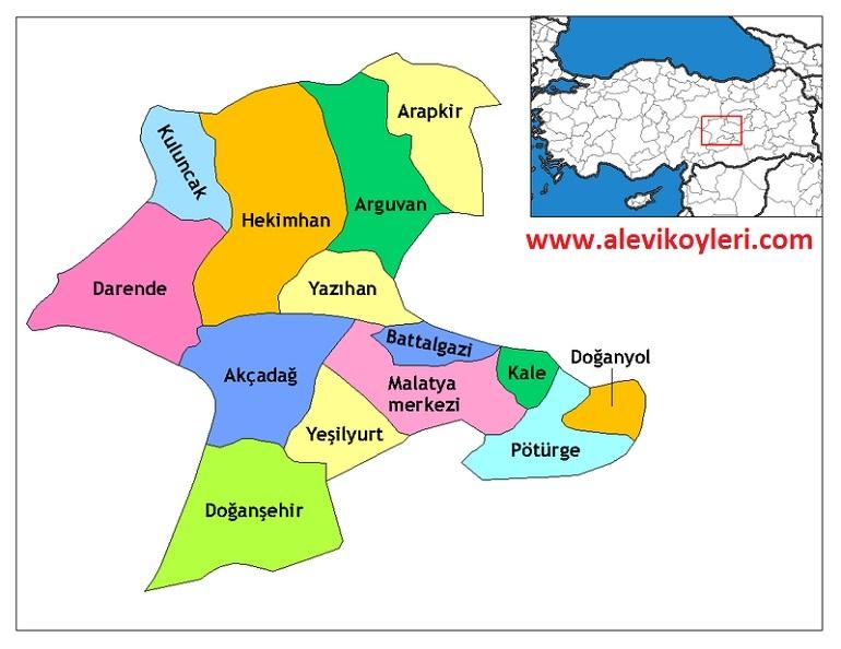 Alevi Köyleri Haritası (İllere göre) 25