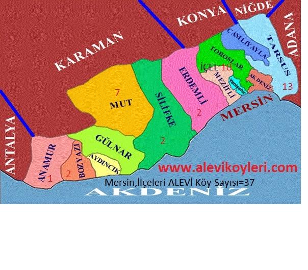 Alevi Köyleri Haritası (İllere göre) 26