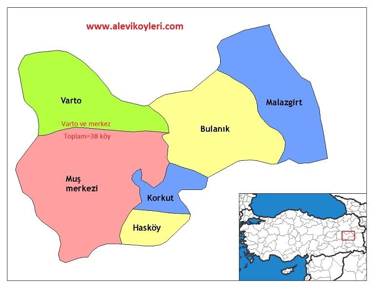 Alevi Köyleri Haritası (İllere göre) 27