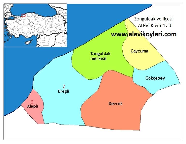 Alevi Köyleri Haritası (İllere göre) 33