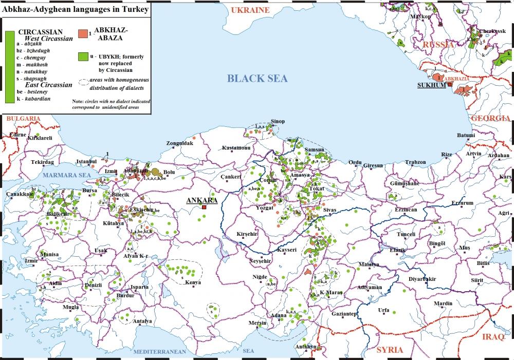 Alevi Köyleri Haritası (İllere göre) 34