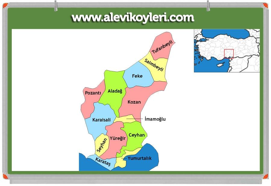 Alevi Köyleri Haritası (İllere göre) 35