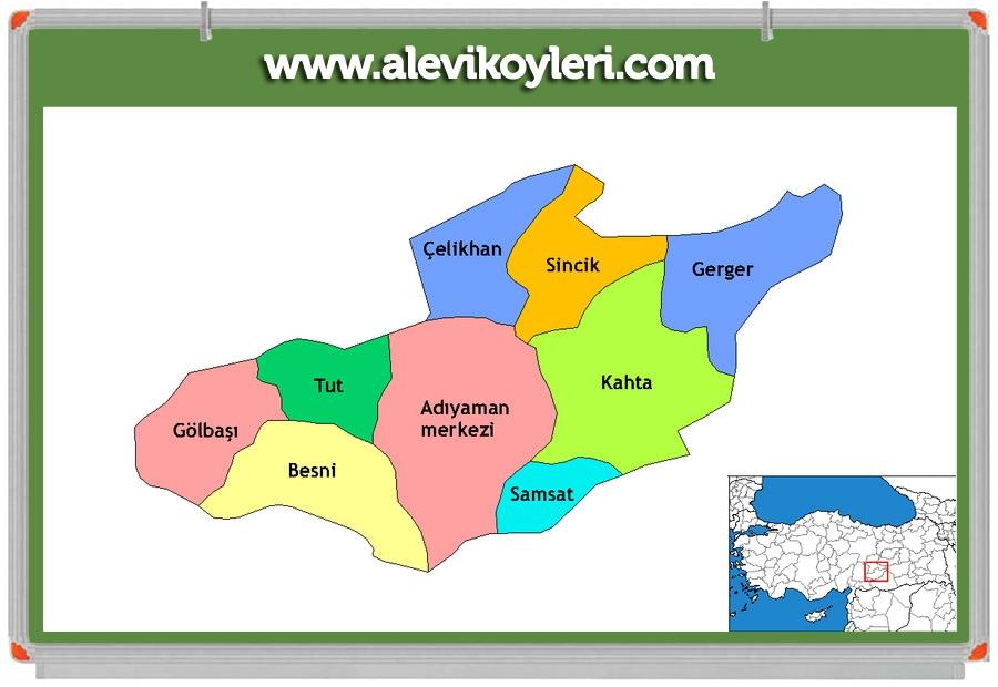 Alevi Köyleri Haritası (İllere göre) 36