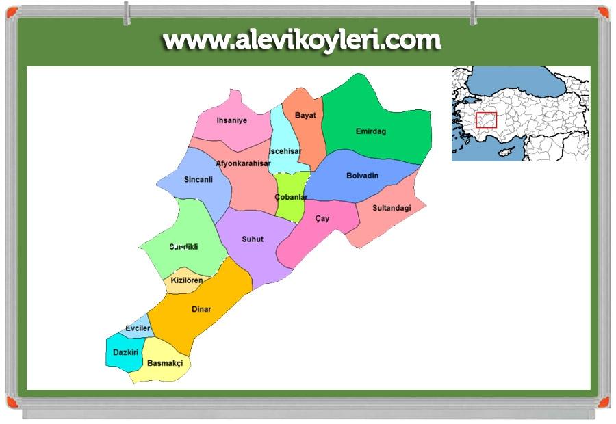 Alevi Köyleri Haritası (İllere göre) 37