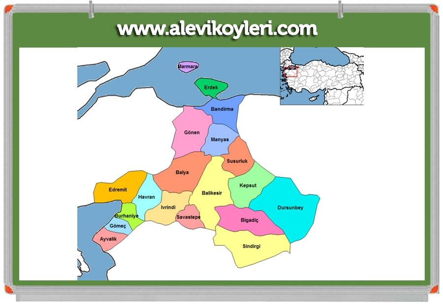 Alevi Köyleri Haritası (İllere göre) 39