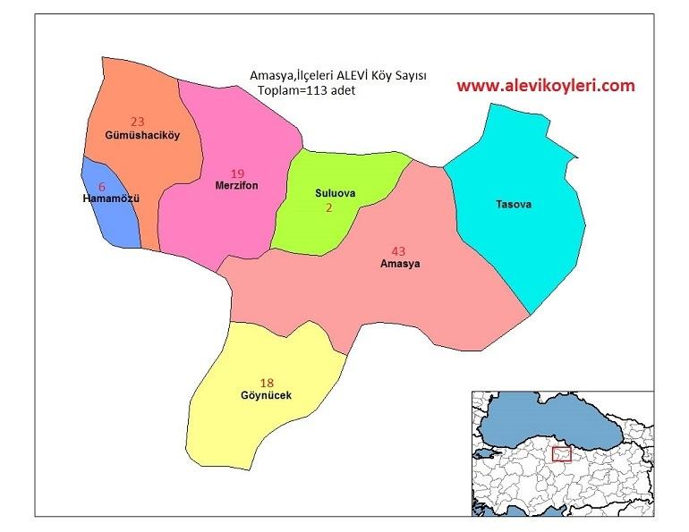 Alevi Köyleri Haritası (İllere göre) 4
