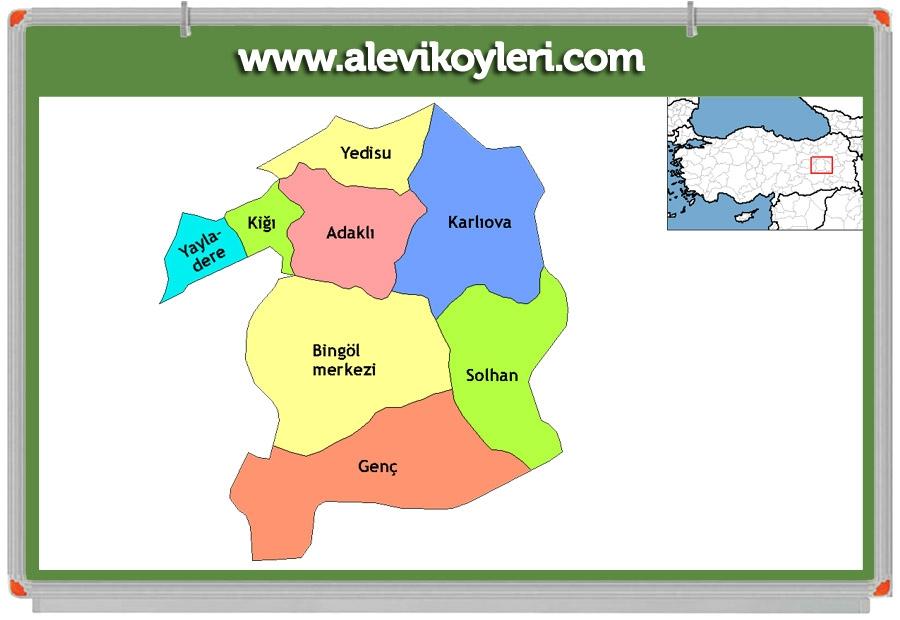 Alevi Köyleri Haritası (İllere göre) 40