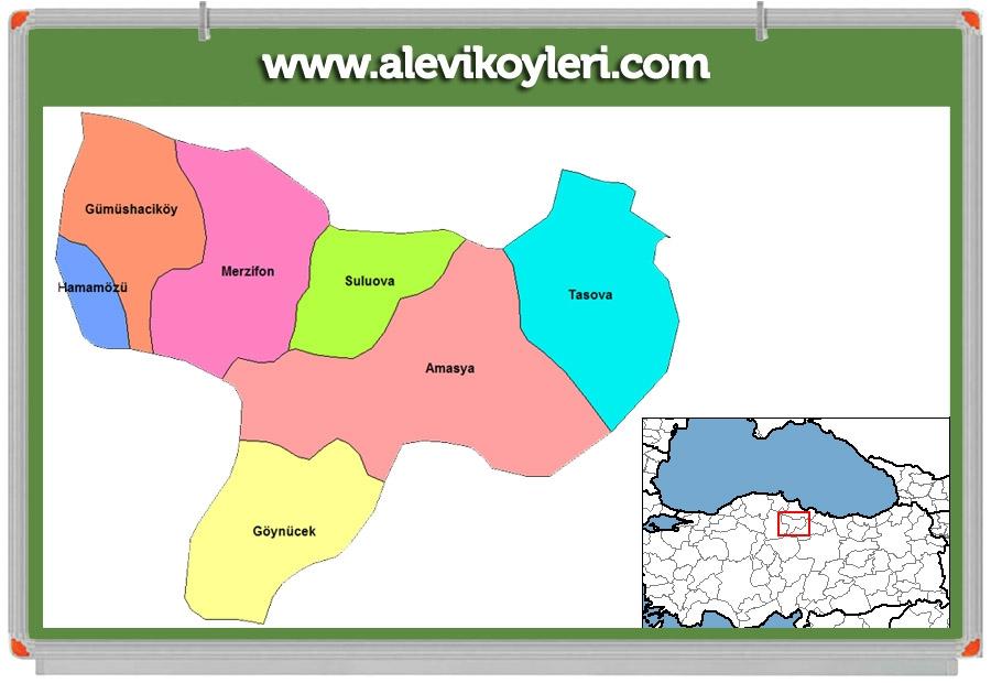 Alevi Köyleri Haritası (İllere göre) 41