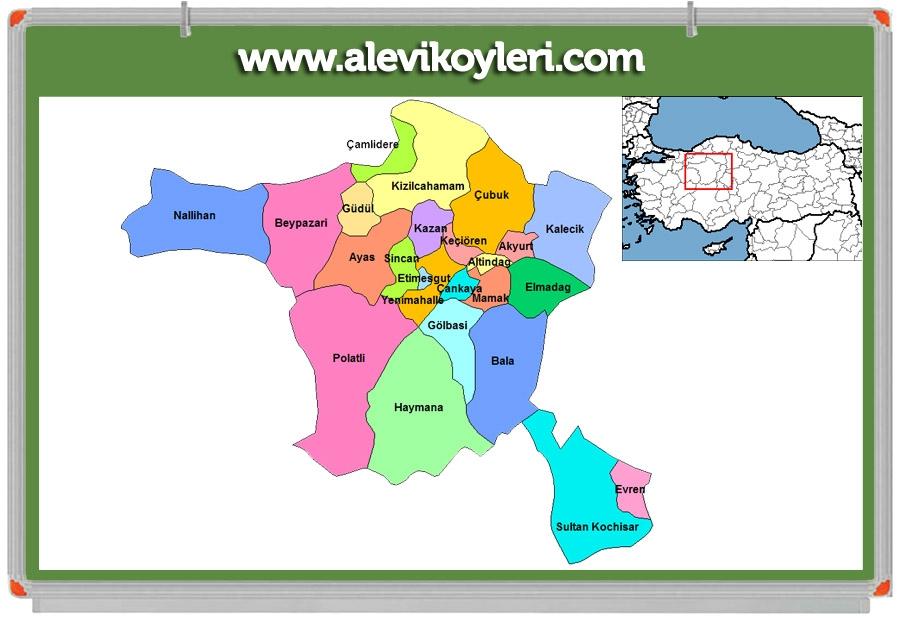 Alevi Köyleri Haritası (İllere göre) 42