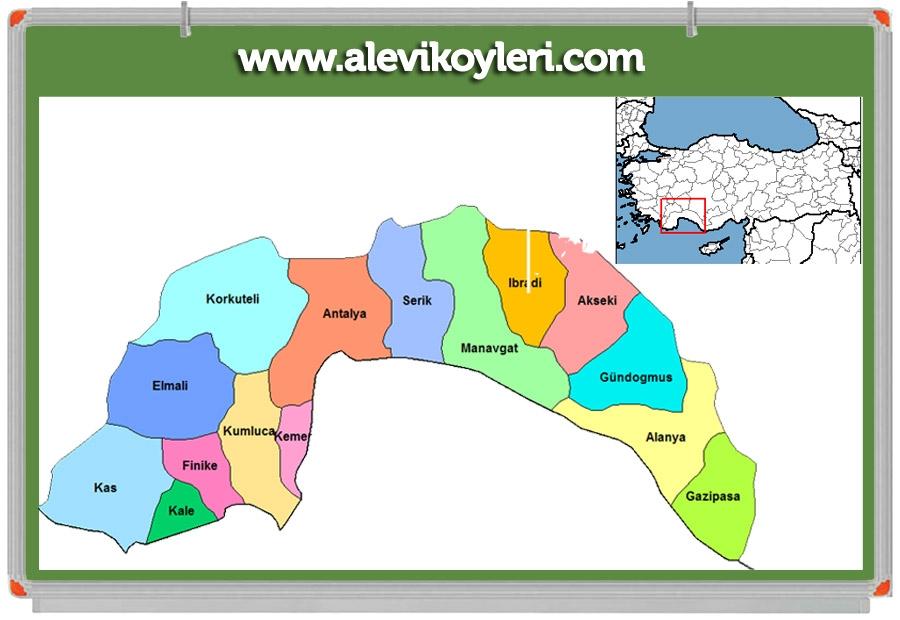 Alevi Köyleri Haritası (İllere göre) 43