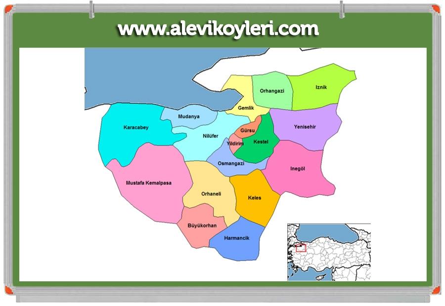 Alevi Köyleri Haritası (İllere göre) 44