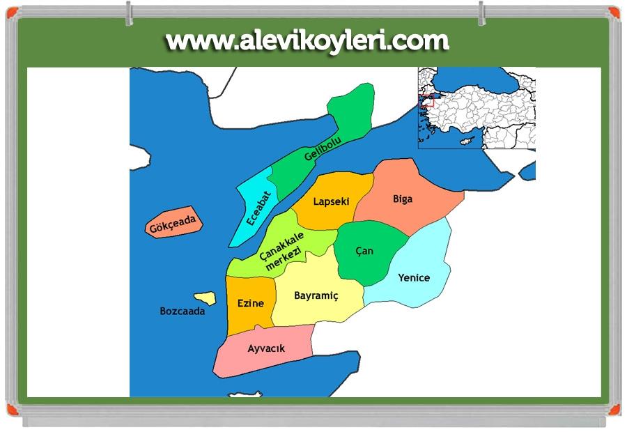 Alevi Köyleri Haritası (İllere göre) 45