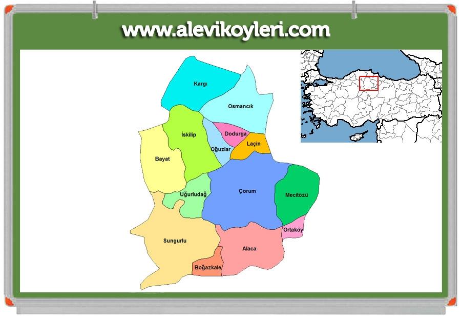 Alevi Köyleri Haritası (İllere göre) 46