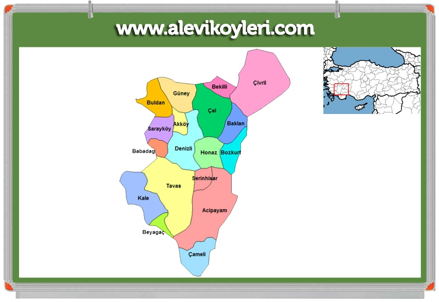Alevi Köyleri Haritası (İllere göre) 47