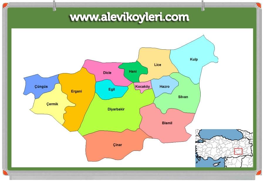 Alevi Köyleri Haritası (İllere göre) 48