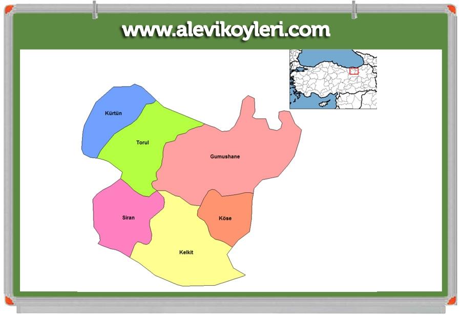 Alevi Köyleri Haritası (İllere göre) 49