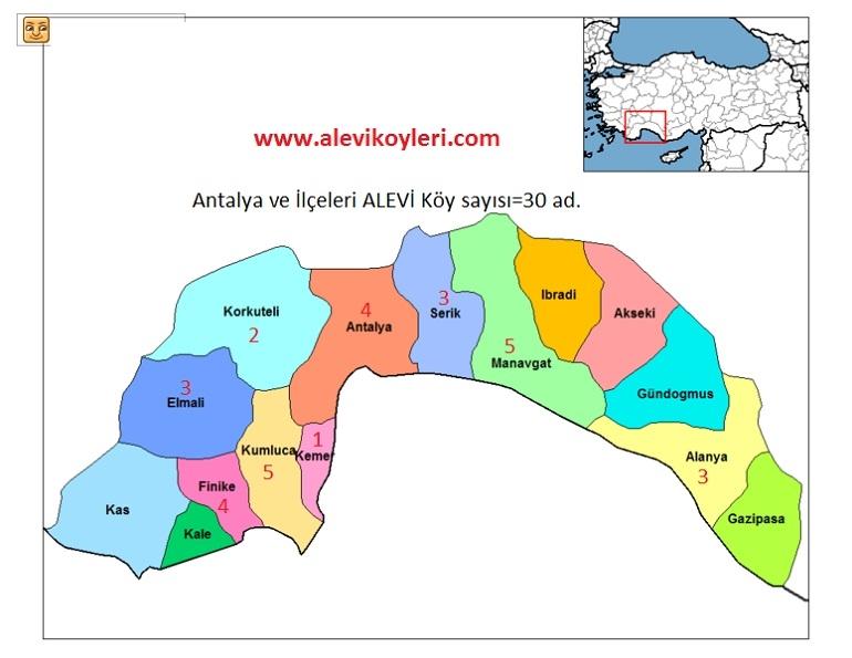 Alevi Köyleri Haritası (İllere göre) 5