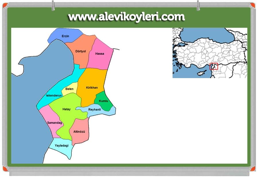 Alevi Köyleri Haritası (İllere göre) 50