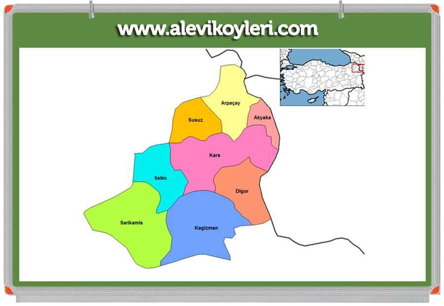Alevi Köyleri Haritası (İllere göre) 51