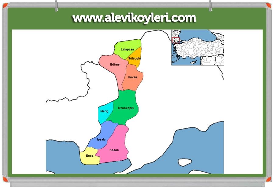 Alevi Köyleri Haritası (İllere göre) 52