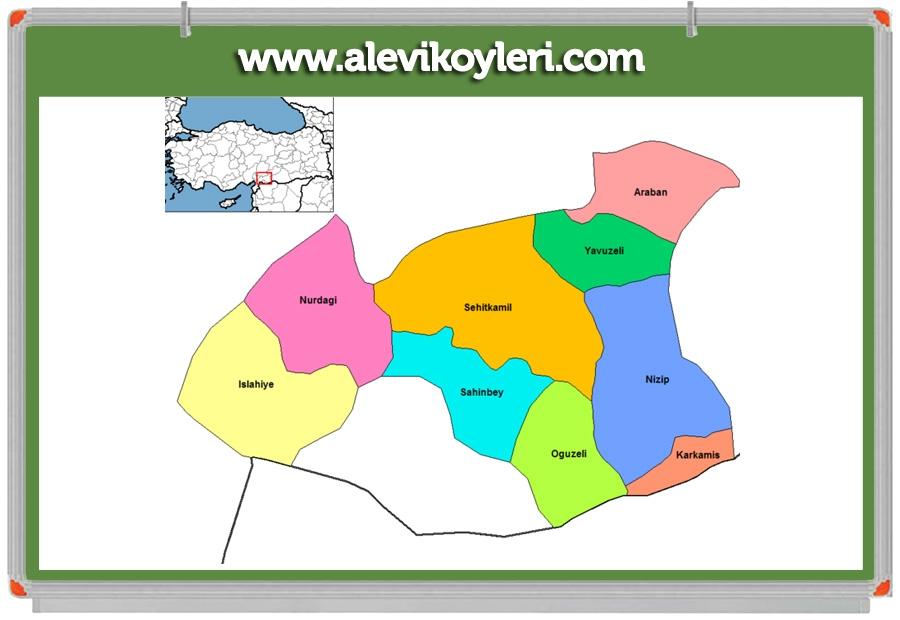 Alevi Köyleri Haritası (İllere göre) 57