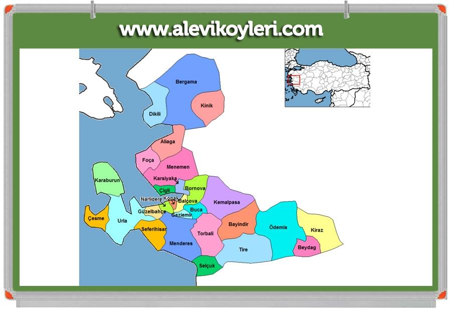 Alevi Köyleri Haritası (İllere göre) 59