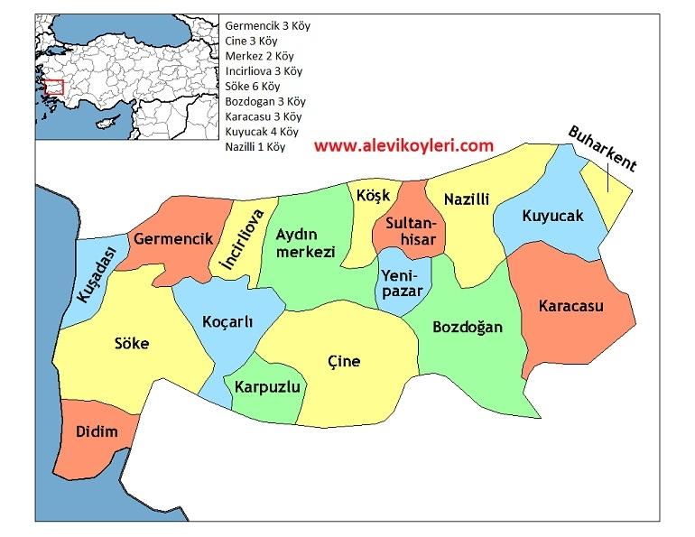 Alevi Köyleri Haritası (İllere göre) 6
