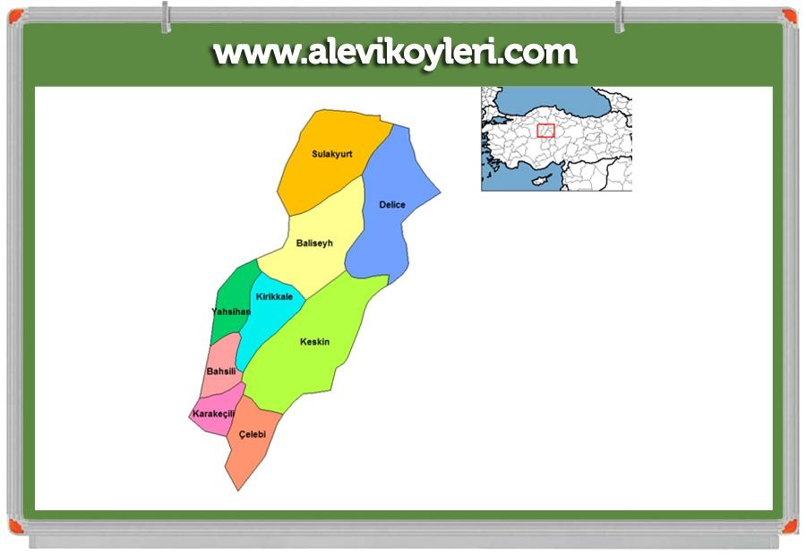 Alevi Köyleri Haritası (İllere göre) 62