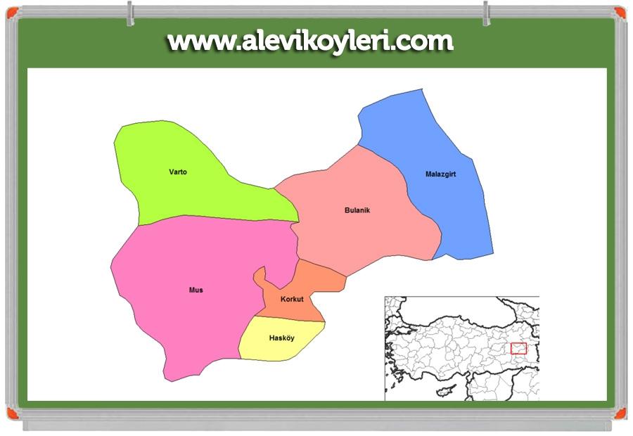 Alevi Köyleri Haritası (İllere göre) 64