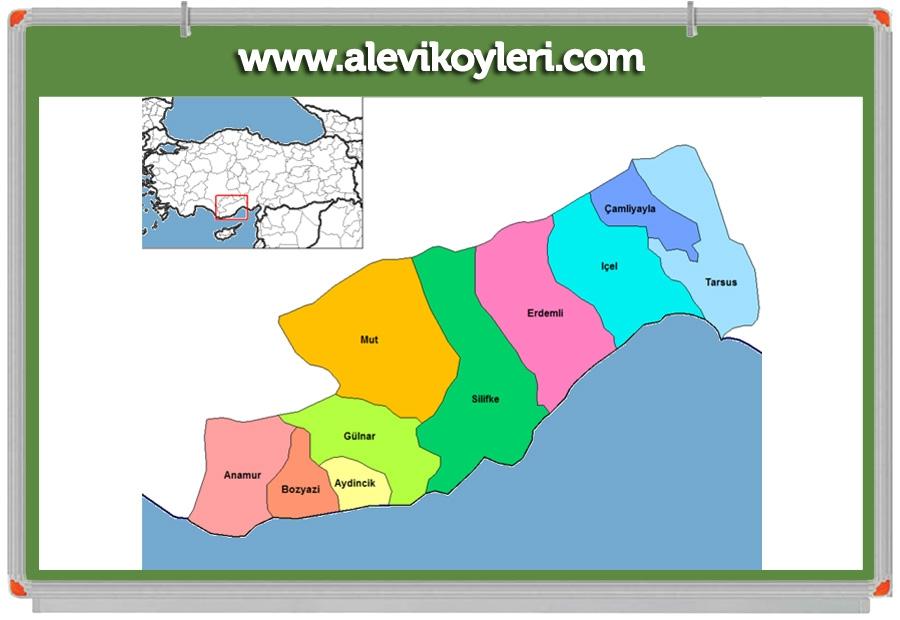 Alevi Köyleri Haritası (İllere göre) 67