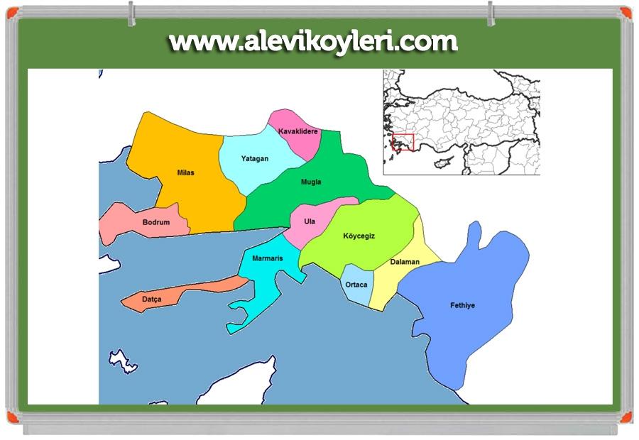 Alevi Köyleri Haritası (İllere göre) 68