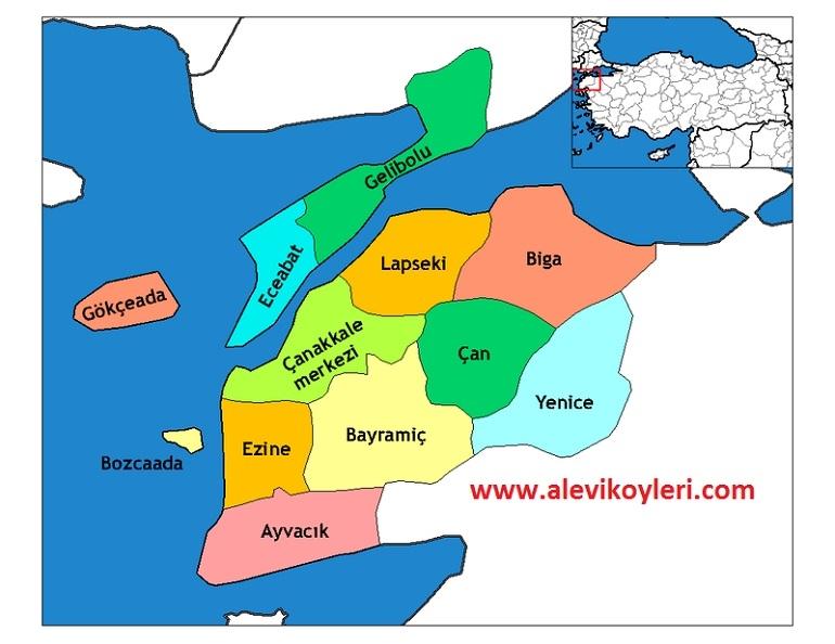Alevi Köyleri Haritası (İllere göre) 7