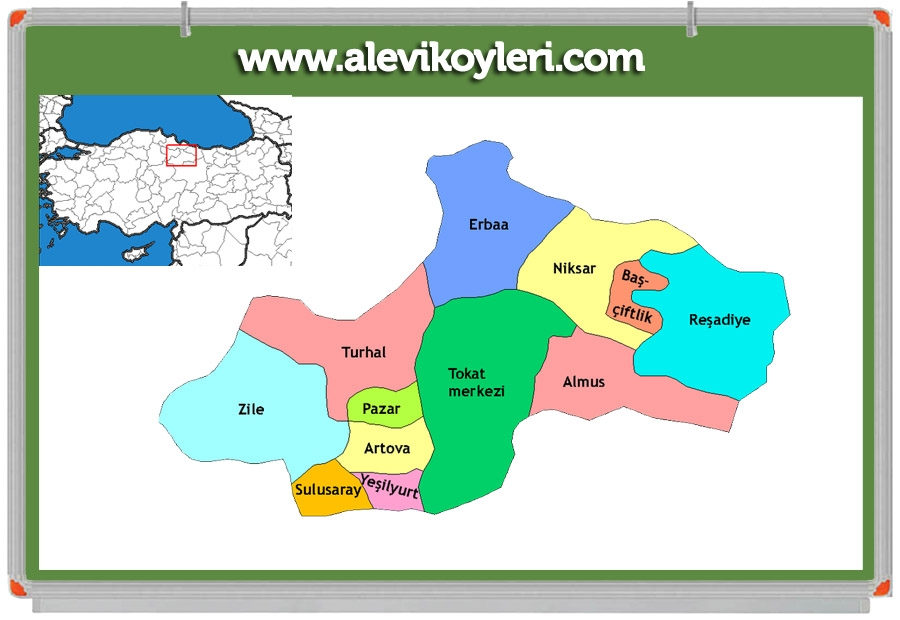 Alevi Köyleri Haritası (İllere göre) 71