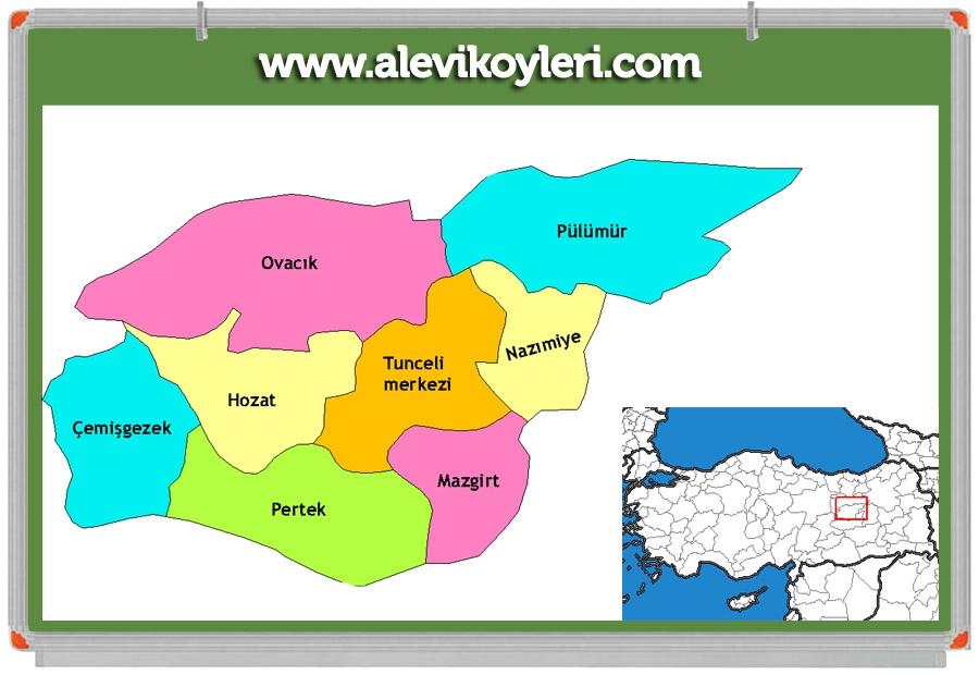 Alevi Köyleri Haritası (İllere göre) 72