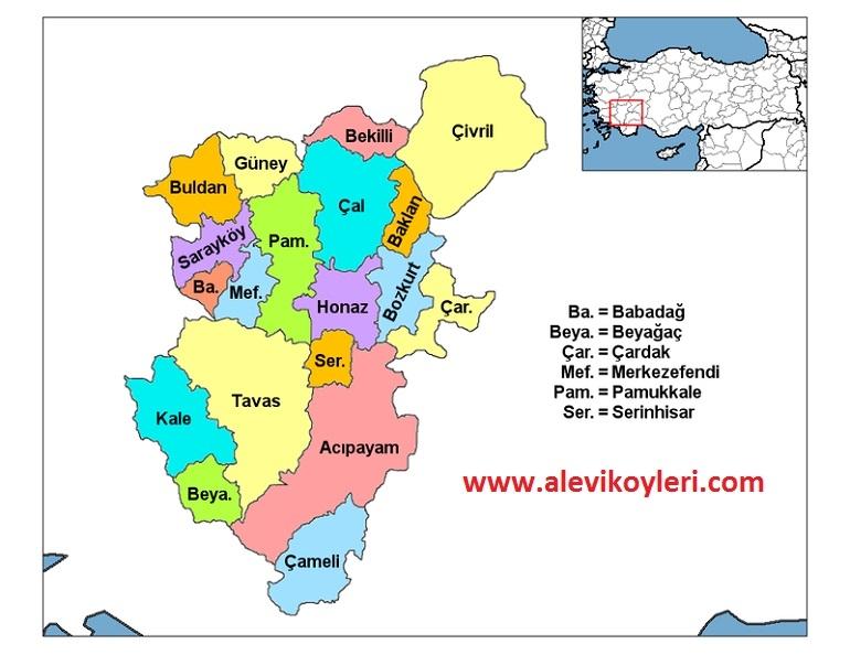 Alevi Köyleri Haritası (İllere göre) 9