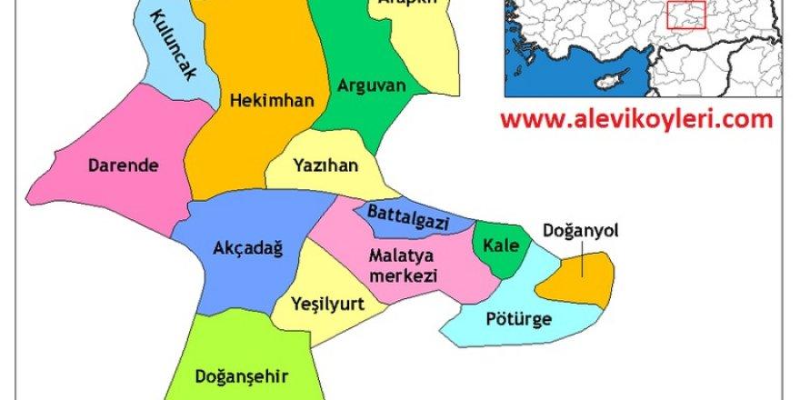 Alevi Köyleri Haritası (İllere göre)