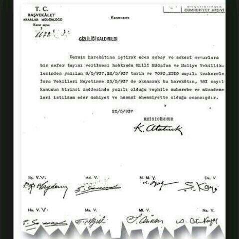 Belgelerle Atatürk ve Dersim Katliamı