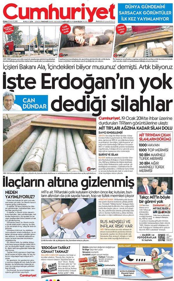 Can Dündar ve Erdem Gül'ün tutuklanmasına neden olan haber