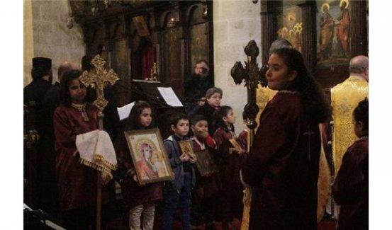 Hataylı Hıristiyanlar Noel'de barış için dua etti