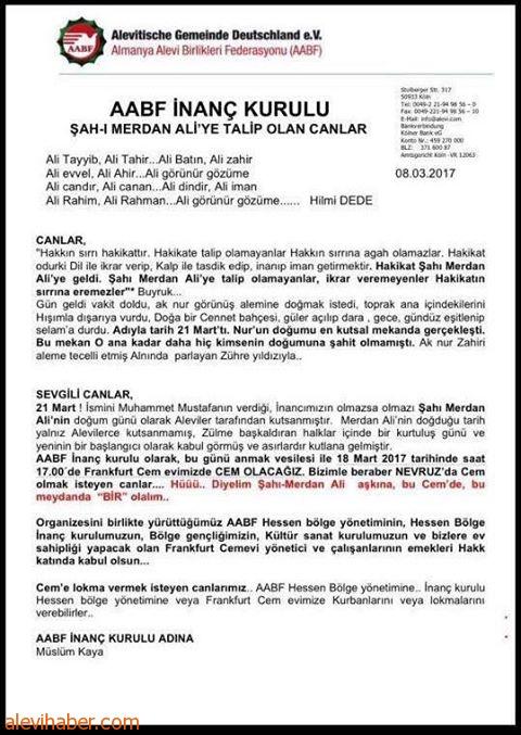 AABF Newroz'u İmam Ali'nin Doğum Yeri Kabe'demi kutlayacak?