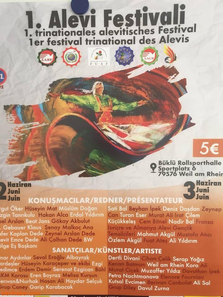 3 farkli Ülkenin ortaklaşa düzenlediği 1. Alevi Festivali başladı